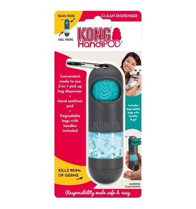 Kong Handipod Dispensador p/ Sacos de Dejectos + Gel Desinfectante