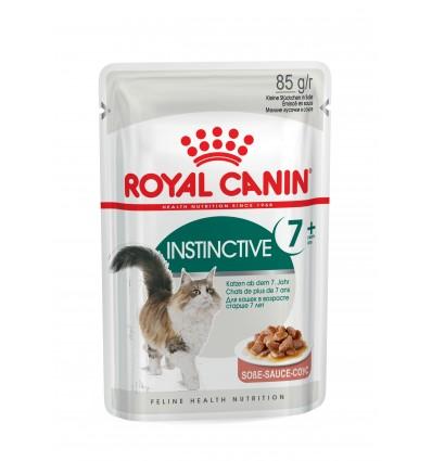 Royal Canin Gatos Instinctive +7 Húmidos Saquetas 85gr x 12 uni.