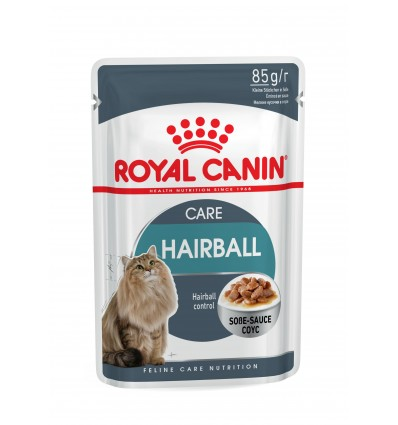 Royal Canin Gatos Hairball Care Húmidos Saquetas 85g x 6 uni.