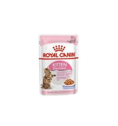 Royal Canin Kitten Sterilised (Jelly), Gatinhos, Húmidos, Alimento