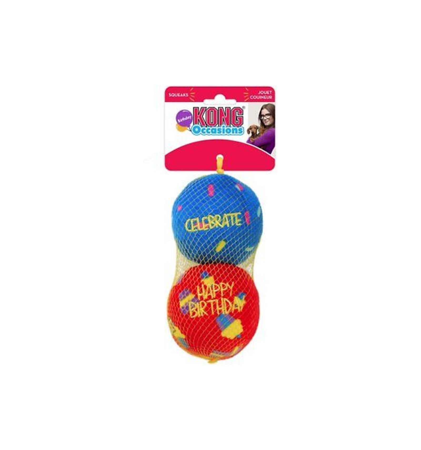 5ca8c48ff191 Brinquedo Kong Birthday Occasions Ball - Tamanho M