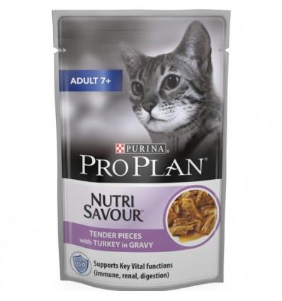 Purina Pro Plan Gatos Húmidos Nutri Savour Adult 7+ Perú Saq. 85gr