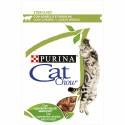 Purina Cat Chow Adultos Sterilised Húmidos c/ Borrego e Feijão Verde 85gr