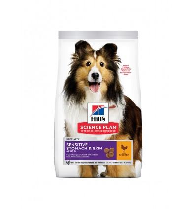 Hill's Science Plan Canine Adult Sensitive Stomach e Skin Frango 12kg