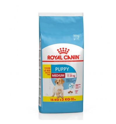 Royal Canin Medium Puppy 15 + 3Kg Oferta