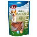 Ossos Cálcio Trixie DRUMSTICKS p/ Cão c/ Frango 95gr.