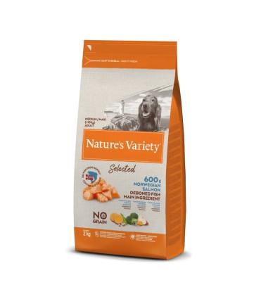 Nature's Variety Selected Cão Sem Cereais Medium/Maxi Salmão da Noruega