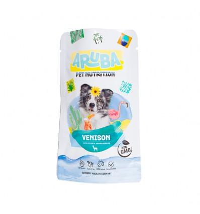 Aruba cão Alimentação Húmida Veado, aipo e bagas de aronia